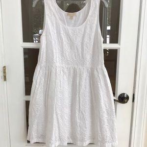 Michael Kors eyelet lace cotton spring dress.  EUC